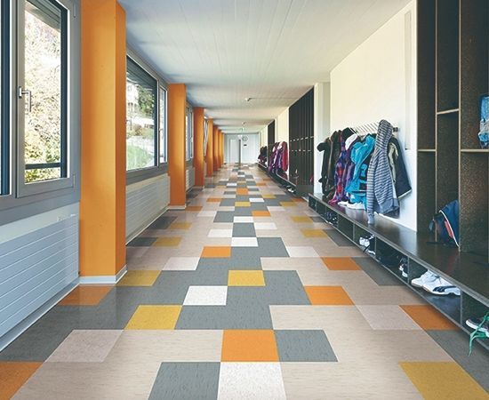 Resilient rubber flooring <br />Durability and slip resistance<br /> Sound absorption and ease of maintenance
