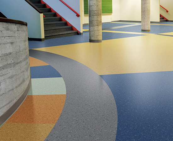Multilayered vinyl floorcovering <br />No wax and no polish for life <br />Wide color ranges and versatile designs