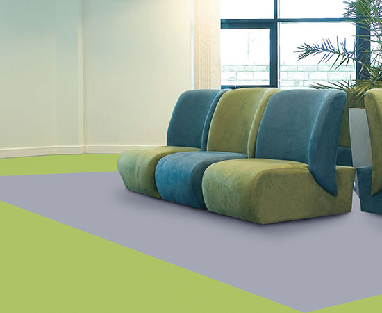 Acoustic foam backed vinyl flooring <br />Provides cushioning underfoot <br />The first choice for public and commercial areas